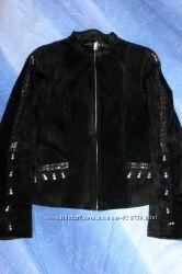 Куртка из натуральной замши р. С в отличном состоянии