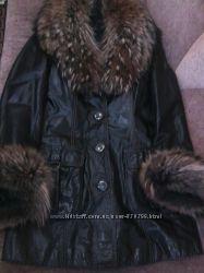 кожанная куртка состояние новой