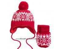 Нова зимова шапочка та рукавички Н&М