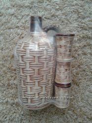 Набор новый керамический для вина 6 стопок