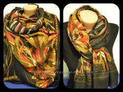 Мягкий шерстяной шарф-палантин Etro