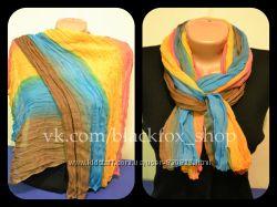 Легкий шарф с переходом цвета