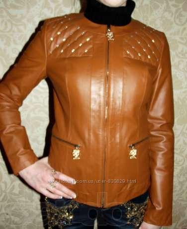 Стильная кожаная куртка incity в новом состоянии