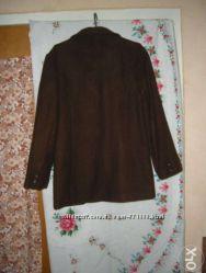 Пиджак темно-коричневого цвета, 80шерсть
