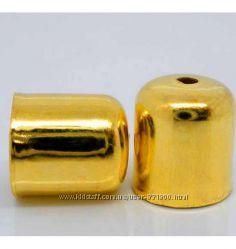Концевик колпачок для жгута из бисера
