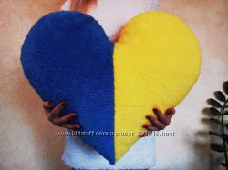 Cувенир Подушка сердце флаг Украины 65х60