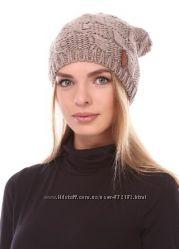 Шапочка-колпак стильная красивый узор шерсть