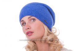 Яркая шапка с люрексом   шерсть цвета