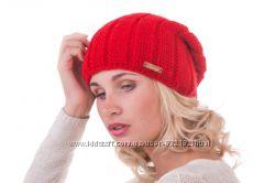 Теплая стильная шапочка-колпак подклад флис шерсть цвета