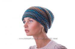 Очень красивая шапка колпак яркий меланж шерсть
