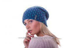 Яркая двойная стильная шапочка колпак цвета шерсть
