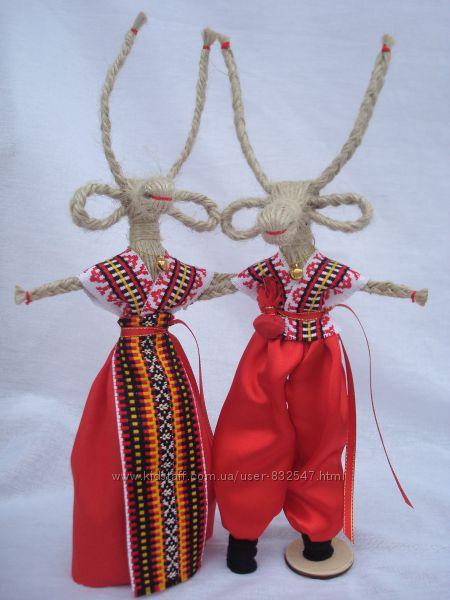 Handmade. Коза - символ веселья и благополучия. Подарок-оберег.