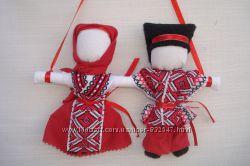 Handmade. Подарок в дом Оберег ---Неразлучники--- . Кукла-мотанка.