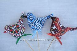 Птички-невелички. Подарок и сувенир. Handmade.
