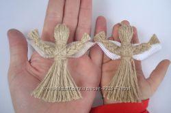 Подарок-оберег. Кукла-мотанка --Ангелочек-- Handmade. Подарок в дом