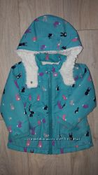 Куртка I love next с зайками на 12-18-24 месяцев