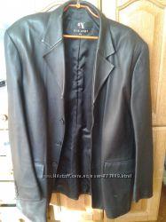 Куртка-пиджак кожаная YiLuQi 3ХL Турция