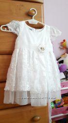 Новое нарядное  платье 1-2г