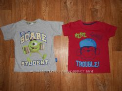 Фирменные качественные футболки George, Rebel на 3-4года. 98-104см.
