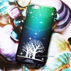 Чехол на айфон 6 Joyroom Vortex с кристаллами Swarovski светящийся втемноте