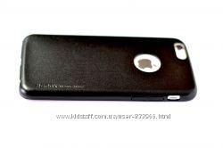 Стильный тонкий кожаный чехол Remax creative case iphone 6