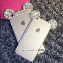 Чехол Mickey Diamond silicone case Iphone 6 6s