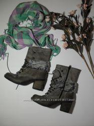 Ботинки полусапожки кожа Италия-37р