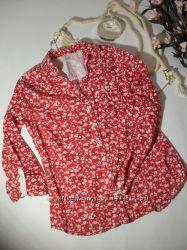 Красная рубашка котон Bonprix-36р