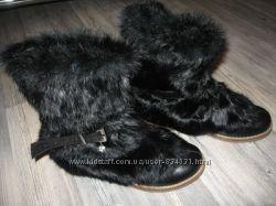 Продам новые кожанные сапоги Турция