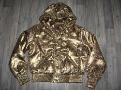 Новая демисезонная куртка, золотая, размер XL