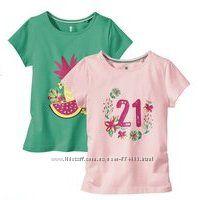 Хлопковые футболочки для девочки Lupilu Германия