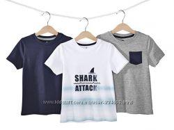 Набор качественых футболок для мальчика Lupilu   Германия