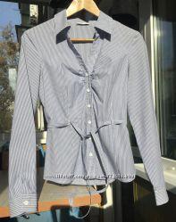 Хлопковая женская блуза блузка рубашка с длинным рукавом Oggi, Oodji