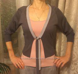Кофточка на завязках Ostin стального цвета, женская трикотажная кофта