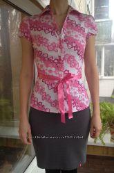 Новая приталенная летняя блузка в цветочек, стильная и оригинальная