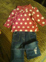Гардероб для девочки платья, штанишки, флисовые кофточки.