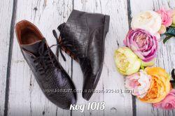 ботинки с натуральной кожи под крокодила
