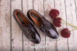 ботинки с натуральной кожи лаковой