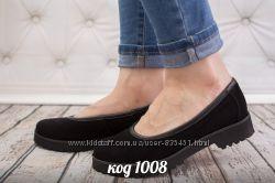 туфли из натуральной замшм