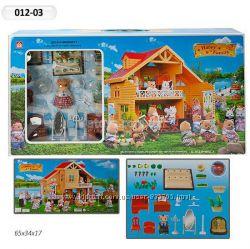 Животные флоксовые Happy Family 012-03 Домик аналог Sylvanian Families