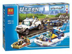Конструктор Bela 10421 Urban Полицейский патруль аналог City 60045