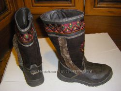 Кожа, осенне-зимние ботинки и сапожки MARKS & SPENSER  р. 27 и  28