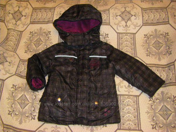 Стильные осенне-зимние  куртки Тополино малышке 2-4 лет