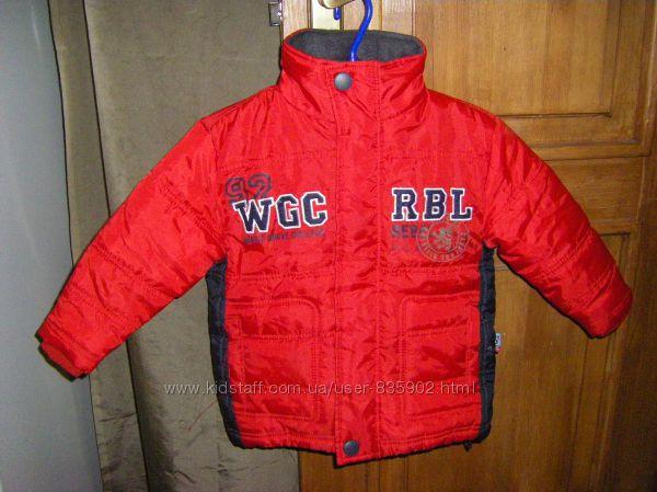 Супер зимняя, куртка-дождевик, теплая  на  рост 98-128