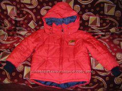 Роскошные немецкие черная и  красная деми куртка  унисекс р. 128-146