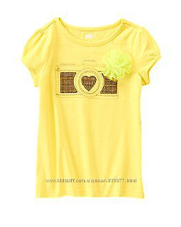 Фирменные футболки для девочек, Джимбори, Чилдрен  Плейс, Крейзи8 7-8, 8-9л