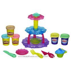 Play-Doh Sweet Shoppe Cupcake Tower. Плей дох Башня из кексов