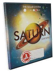 4D Тетрадь ученическая Планета Сатурн, 18 листов, серия Планеты