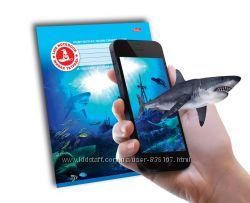 4D Тетрадь ученическая Акула Зельда, 18 листов, серия Ассорти