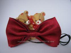 Бабочка - галстук бордовая
